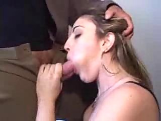 awesome young assistant bent over and poked