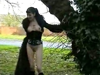 goth girls outside nudity and rude openair