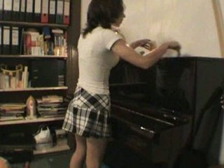hot german young inexperienced tough on piano