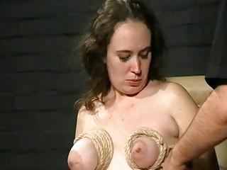 chest beat and extreme bondage of italian bbw
