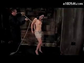 babe with moutgag on high shoes obtaining tied up