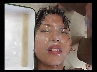 semen glazed bukkake amp part 1