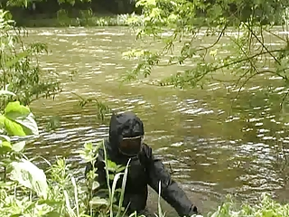 babe into wetsuit and rubber raniwear obsess soft