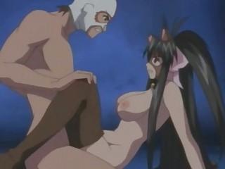 sweet hentai anime babe into cat costume pleasured