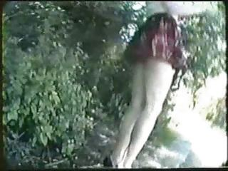 outside nudity vintage flashing at the park
