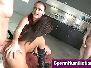 desperate cumshots wet bondage babes take cum bath