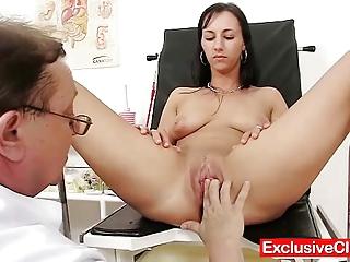 super girl nona vagina pumped during gyno exam