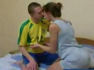 ginger russian older  mother obtains gangbanged