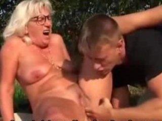 grandma gangbangs fresher male openair