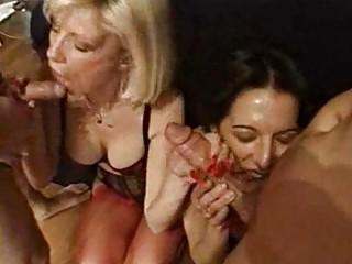 foursome piercing pleasure with super and bushy