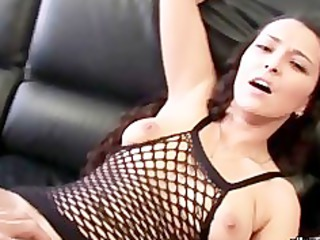 curly fishnet butt fisted and sodomised