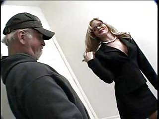 super lady with glasses foot cummed