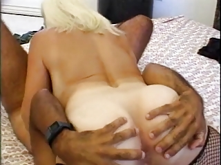 bleached granny old tart into fishnets copulates