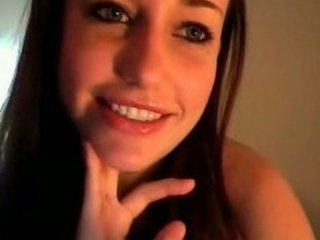 awesome teenager flashing on webcam
