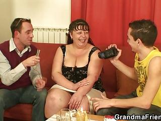 interview with heavy slut leads to triple