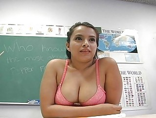 lusty fresh instructor pleases into front of the