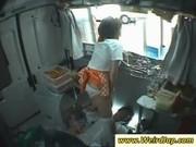 Asian girl showing panties upskirt
