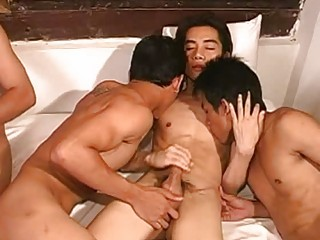 triple naughty eastern  gays having crazy bunch