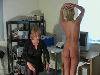 stunning bleached english chick obtains spanked