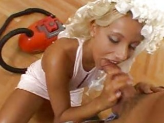 superb wonderful sexy bleached housewife with