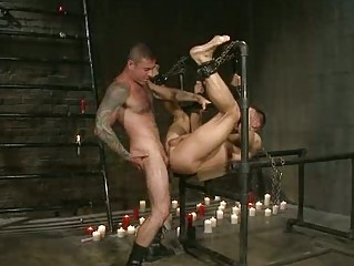handsome gay fucker had roughly bondaged and