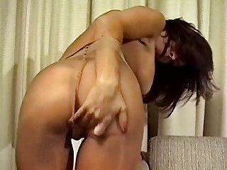 chick into nylons getting off her jeans