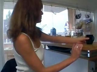 slutty german mom into her kitchen