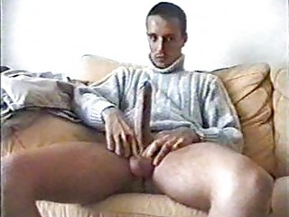 young boy exposes off his large penis before