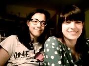 Double flash bra in webcam