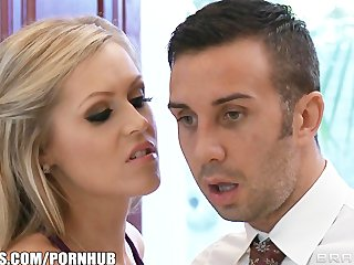 Busty blonde Darcy Tyler blackmails her best