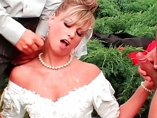 mad bride cummed and pissed on