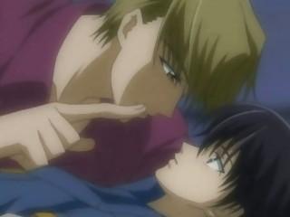 gay anime lovers secretly kiss and porn joy