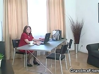 meeting inside the office ends up threesome