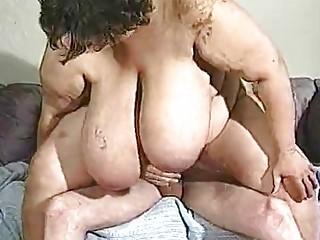 older  bbw has really huge boobs