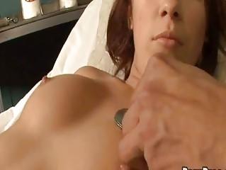 sweetie falls alseep at gynecologist visit!