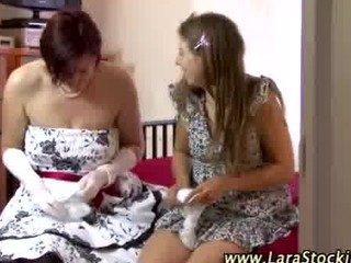 wonderful nylons dikes obtain dirty