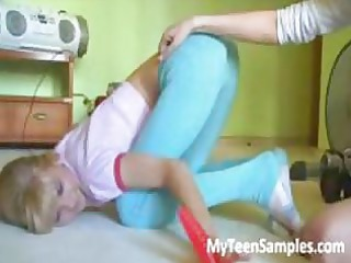two sweet 18yo russian teens playing