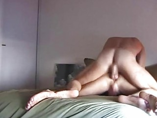 naughty man is rimming his friend eager