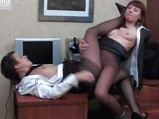 nylons dikes into the bureau