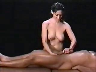 slutty lady oils and polishes her lovers huge