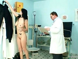 slutty adriana chest and kitty gyno exam at horny
