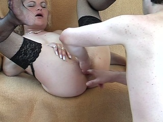 ugly but extremely slutty maiden blows her dude