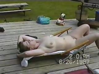 nudist lawnchair maiden