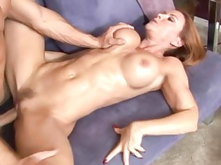 janet mason pulls her foot back and bangs hard