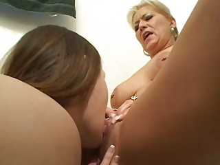 horny homosexual woman learns from older