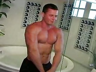 muscled stud wishes thin man