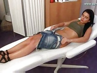 gyno exam with electrotherapy