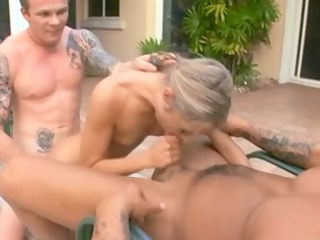 angel gets group-fucked by 2 mates
