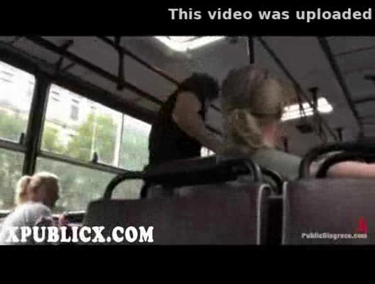 bleached fellatio and copulate inside bus