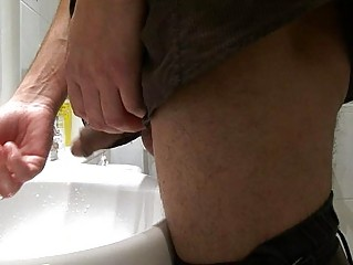 gay stud takes caught pissing into the al fresco